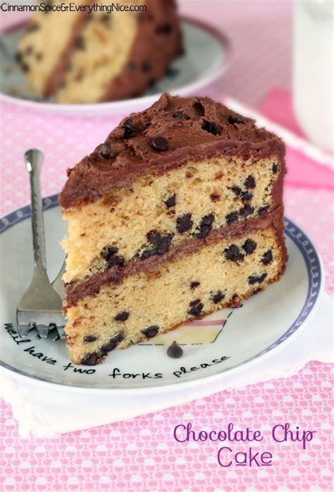 Chocolate Chips Sink To Bottom Of Cake by Chocolate Chip Birthday Cake Cinnamon Spice Everything
