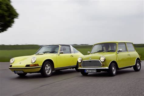 mini cooper porsche happy 50th birthday porsche 911 says mini autoevolution