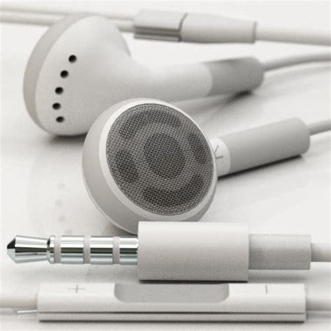 Earphone Model Apple 3d Apple Earphones Remote Mic Model