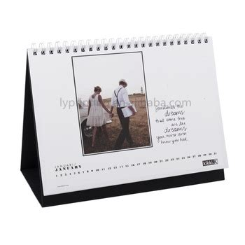 spiral bound stand up desk calendar 2017 new design spiral binding paper desk calendar buy