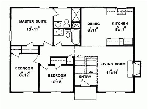 eplans split level house plan three bedroom split level
