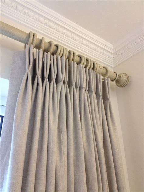 double hung curtains interlined linen curtains with crisp double french pleats