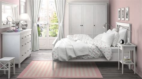 hemnes bedroom ikea furniture pink walls