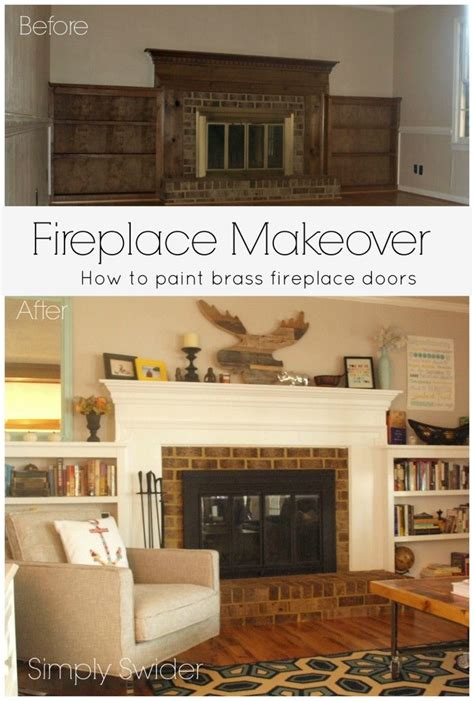 easy fireplace makeover quick and easy fireplace makeover how to paint a brass