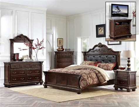 russian bedroom russian hill 1808 bedroom in cherry by homelegance w options
