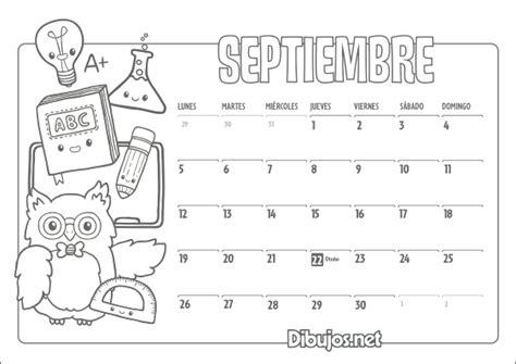 Calendario Para Colorear Calendario Infantil 2016 Para Imprimir Y Colorear