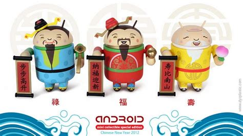 Lu Projector Fu new year android mini figures special edition