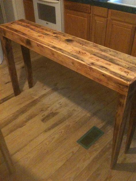 hand  rustic pine distressed sofa table  robert