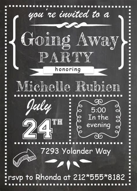 going away template going away invitations new selections 2017