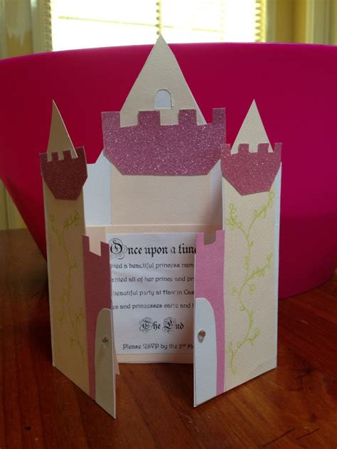 castle invitations to princess party princess party