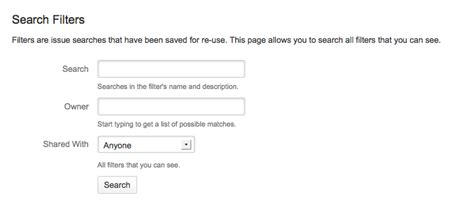 Search Filter Using Filters Atlassian Documentation
