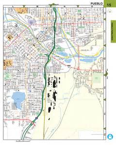 pueblo colorado usa map pueblo pueblo west co regional guide atlas 1st