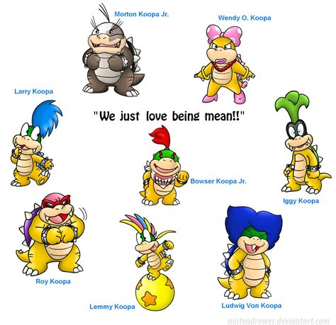 bowser s these are bowser s kids by nintendrawer on deviantart