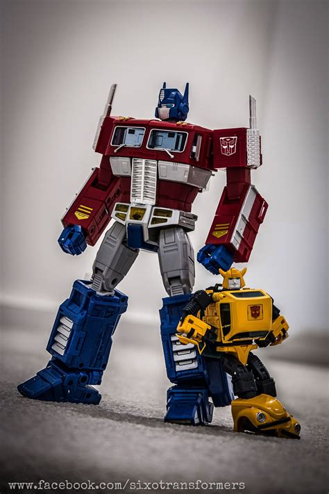Transformers Autobots Optimus Prime Bumblebee Figure transformers masterpiece optimus prime and mp 21 bumble bumblebee transformers masterpiece