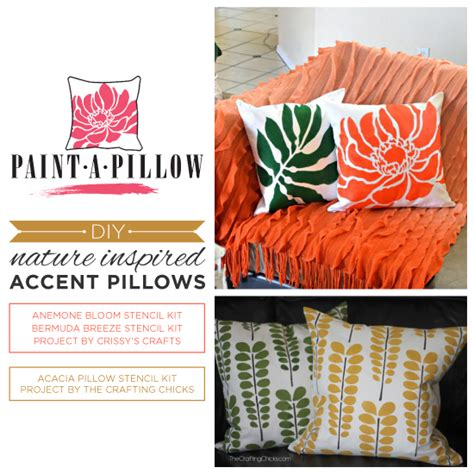 Nature Pillow by Diy Nature Inspired Accent Pillows 171 Stencil Stories