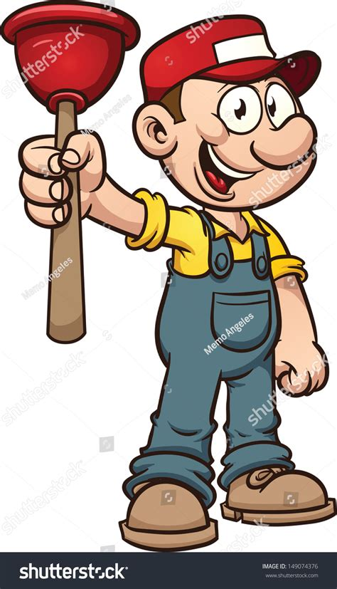 clipart idraulico plumber vector clip illustration with simple