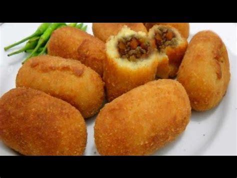 cara membuat onde onde dari kentang resep kroket kentang enak dan sedaaap youtube