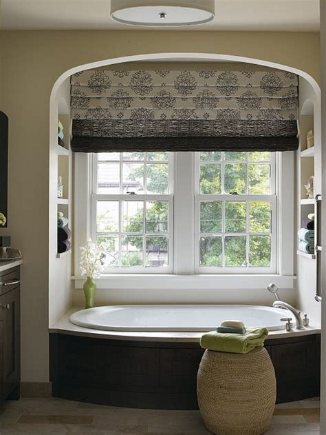 window treatments bathroom block the sun with sophisticated roman shades