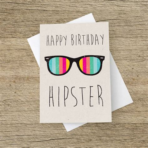 happiest hipster happy birthday hipster card by the strawberry card