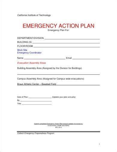 padi emergency plan template 10 printable emergency plan exles pdf