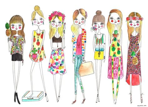 love fashion design print girl artist etsy owner interview diary sketches atiliay