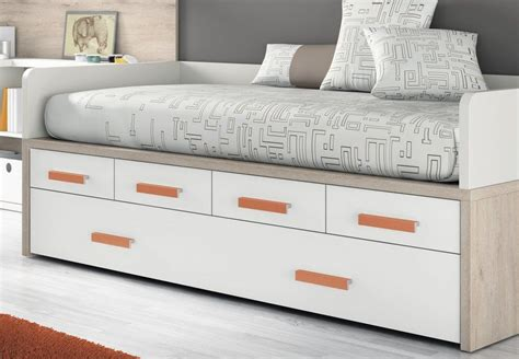 cama nido con dos camas y cajones camas compactas con cama nido hansel cama nido con cajones