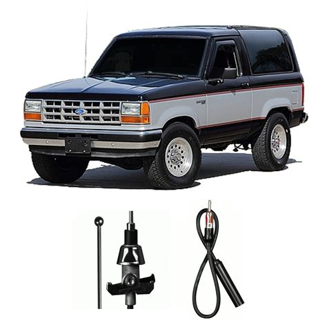 how make cars 1990 ford bronco spare parts catalogs ford bronco ii 1983 1990 factory replacement radio stereo custom antenna mast ebay