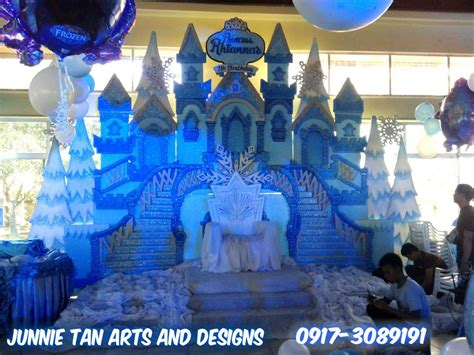 Princess Home Decor frozen styro backdrop for kiddie party junnie tan arts