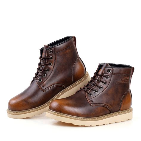 mens leather boots casual mens leather waterproof boots cr boot