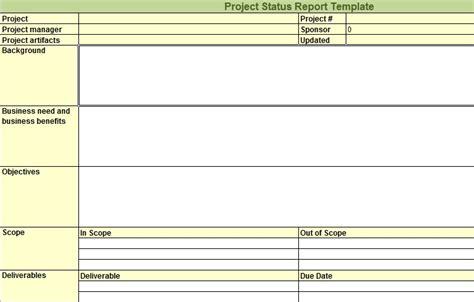 project status report template expert program management