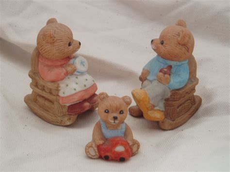 home interior bears homco family retired home interiors c figurines
