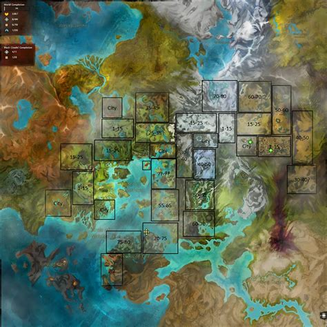 Where Is 2 guild wars 2 map with level range guild wars 2