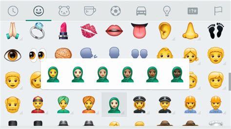 emoji baru teknologi whatsapp mengaktifkan rekaan emoji baru untuk