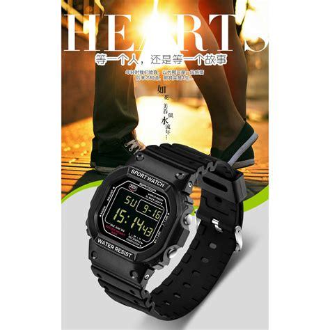 Jam Tangan Pria Cowok Samsung Led Rantai Gold Diskon sanda jam tangan sporty pria sd 329 black gold jakartanotebook