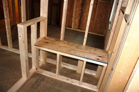 building a shower bench stand up shower with knee walls schluter shower kit custom