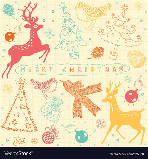 retro christmas pattern vector free vintage christmas deer pattern card royalty free vector