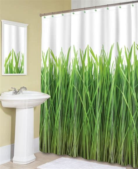 shower curtains green eco deals green grass zen garden peva shower curtains
