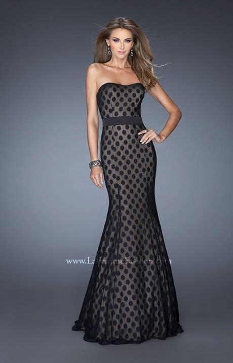 la femme  polka dot charm prom dress