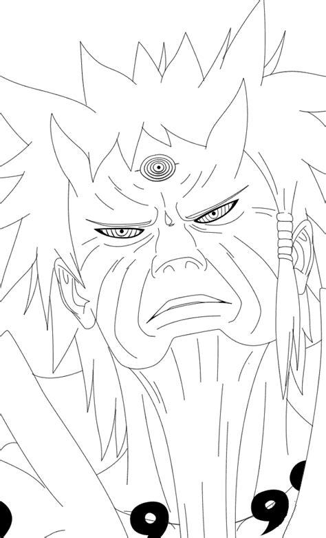 Naruto Rikudou Coloring Pages | naruto uzumaki sage mode manga outline by sketch coloring page