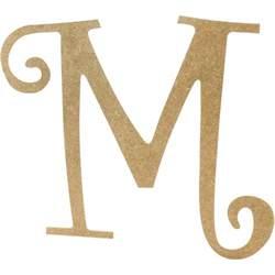 14 quot decorative wooden curly letter m ab2157