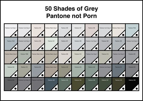 shades of grey color chart 50 shades of grey pantone not porn mark catley design