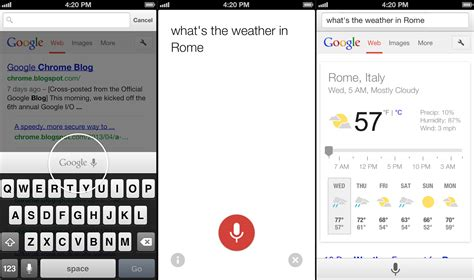 chrome for ios google voice search coming to ios chrome for android gets