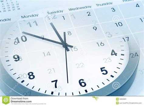 Calendar And Clock Clock And Calendar Stock Illustration Image 50626991