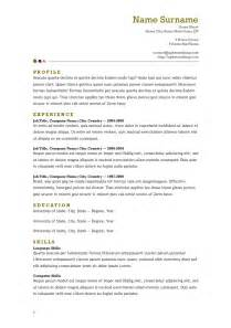 Open Office Resume Template Resume Format Resume Templates Open Office