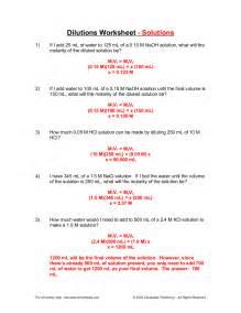 dilution worksheet worksheets for getadating
