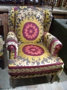 suzani fabric chair a and a the suzani ethnic eclectic