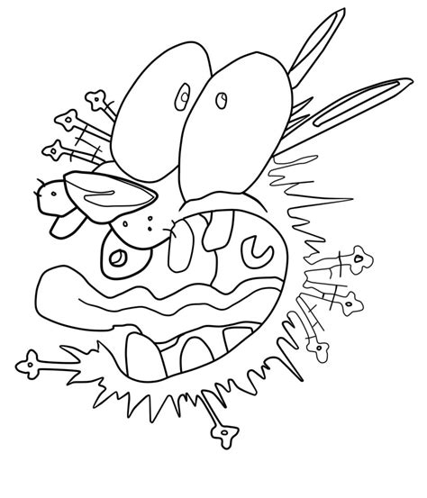 coloring pages of courage the cowardly curage the cowardly free colouring pages