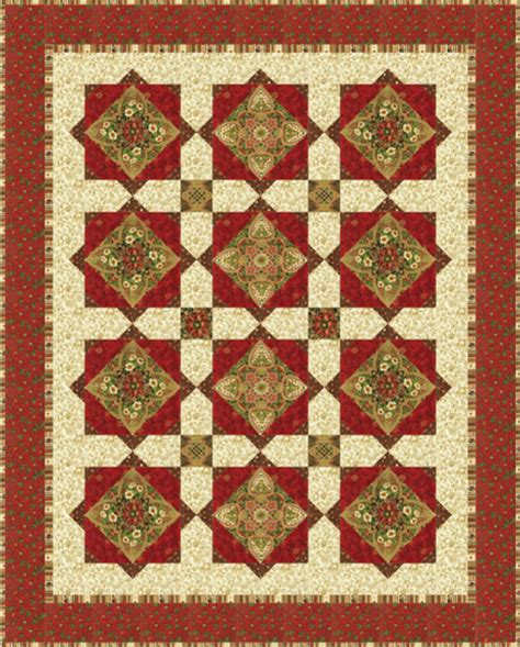 Medallion Quilts Free Patterns by Medallion Free Pattern Robert Kaufman Fabric Company