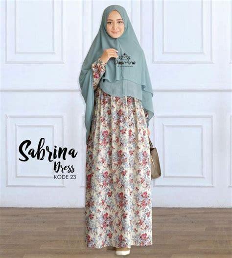 model gamis katun jepang simple modis hijabtuts