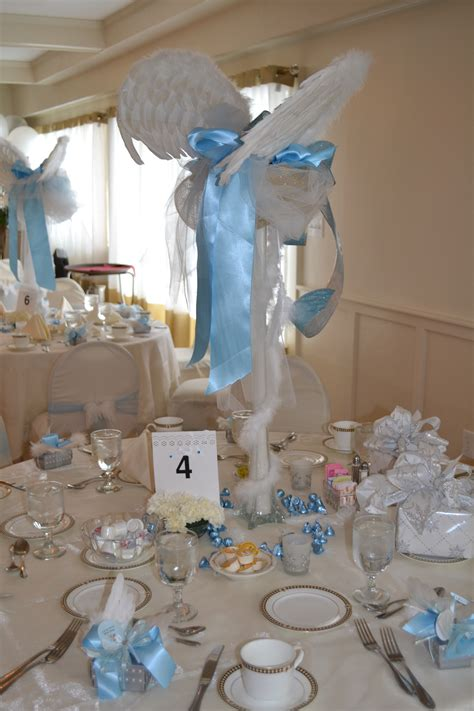 Table Set Decoration 15 Bridal Shower Birthday Baby Shower centerpieces thank heaven for boys baby